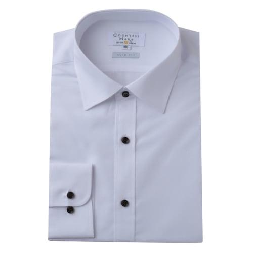 클리포드 카운테스마라 슬림핏 쟈가드짜임 단추포인트 긴팔 셔츠 CDH53B5112AO_이미지