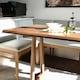레트로하우스 폰테 리빙다이닝 원목 패밀리 식탁세트 1800 (의자5개+벤치1개)_이미지