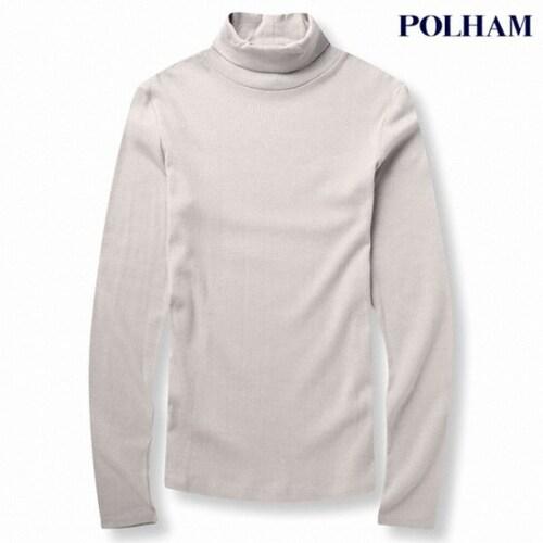 에이션패션 폴햄 여성 심플 폴라 티셔츠  PHU4TU2100_LGR_이미지