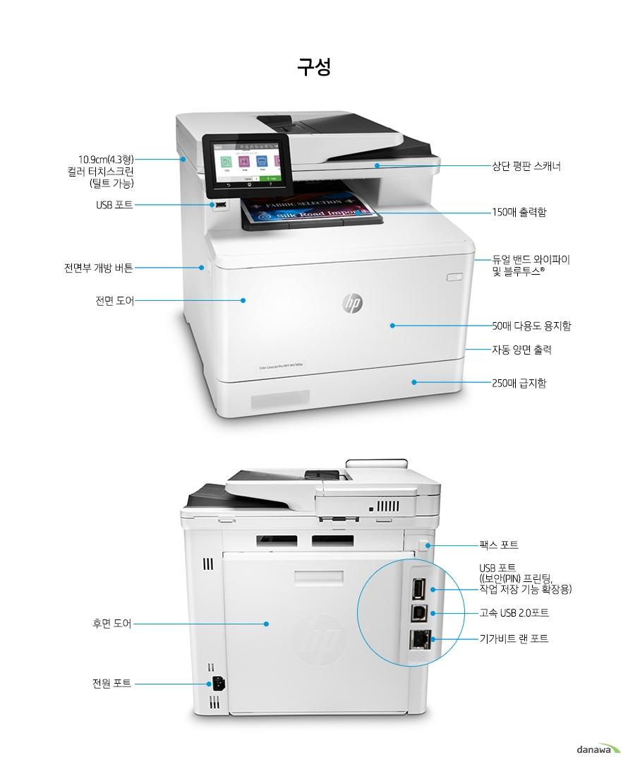 HP 컬러 레이저젯 프로 MFP M479fnw (기본토너)