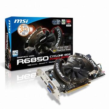 MSI 라데온 HD 6850 R6850 파워에디션/OC D5 1GB 싸이클론_이미지