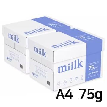 한국제지  밀크 복사용지 A4 75g 박스 (4,000매)