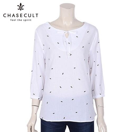 지에스지엠 체이스컬트 여성 리본장식 튜닉 셔츠 GBRG5549D10_이미지