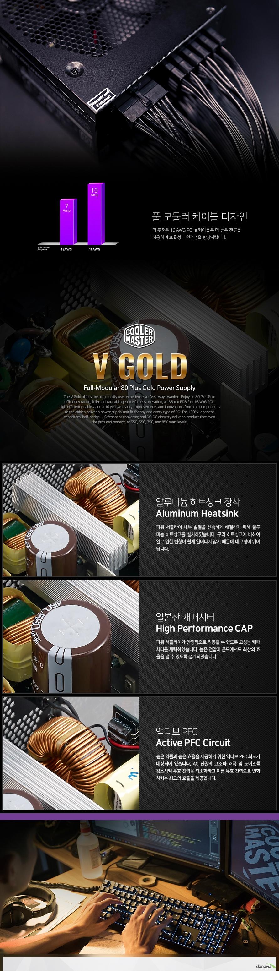 쿨러마스터  GOLD V850 FULL MODULAR