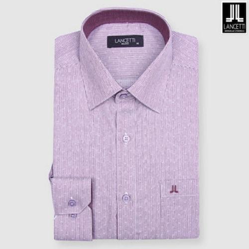 란체티  와인 스트라이프 도비 일반핏 긴소매 셔츠 LPF8229WI_이미지