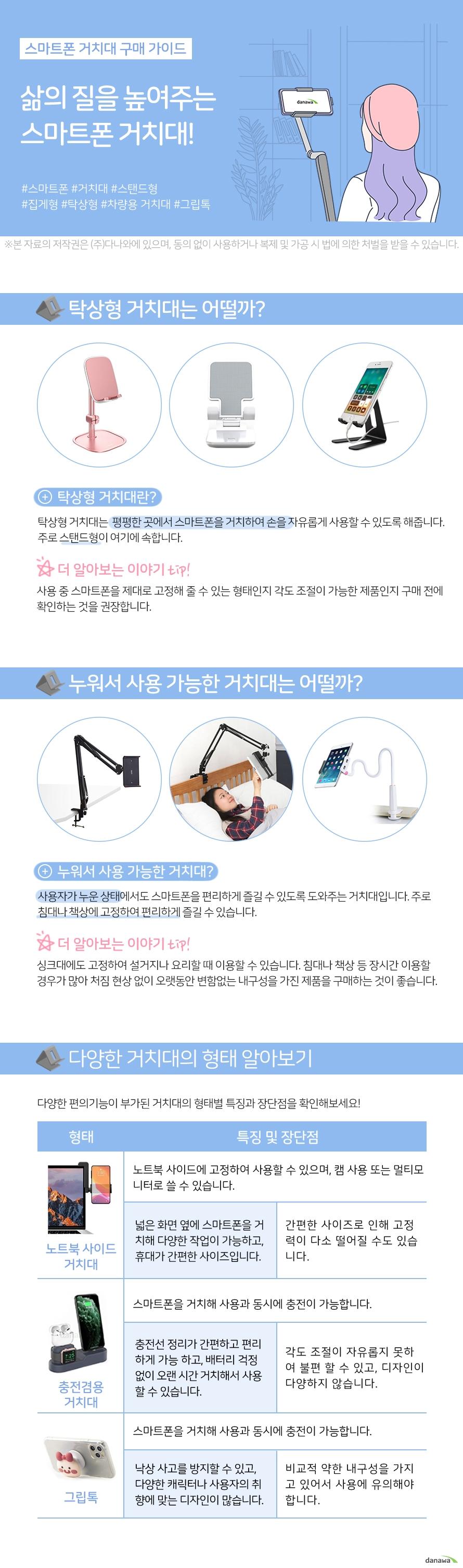 SooPii 스마트폰/태블릿 거치대 DM-01