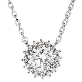 몰리즈 14K 마릴리니 3부 다이아몬드 목걸이 S95880N_dia_이미지