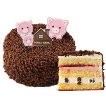 CJ푸드빌 뚜레쥬르 아기돼지 딸기 크런치 하우스 교환권_이미지