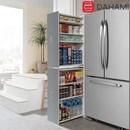 하이그로시 슬라이딩 냉장고 틈새수납장