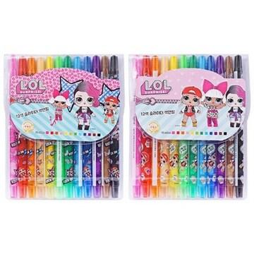 LOL 슬라이더 색연필 12색