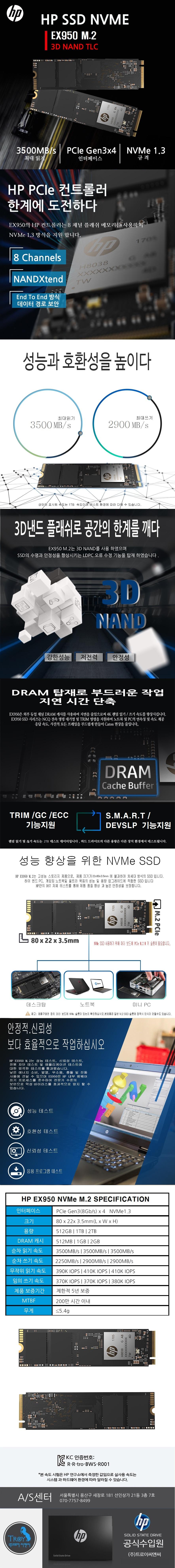 HP  EX950 M.2 2280(512GB)