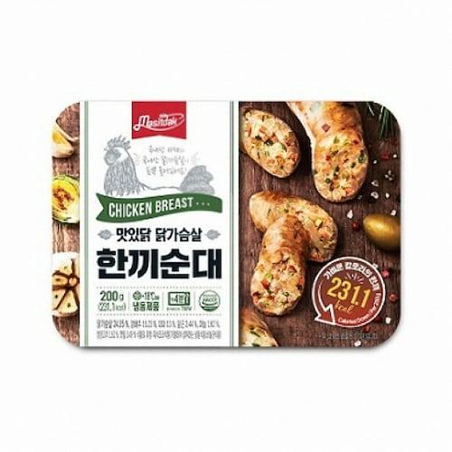 푸드나무 맛있닭 닭가슴살 한끼순대 200g (12개)_이미지