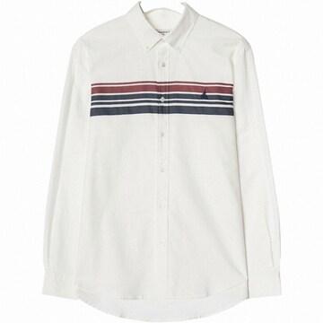 빈폴 화이트 배색 스트라이프 포인트 셔츠