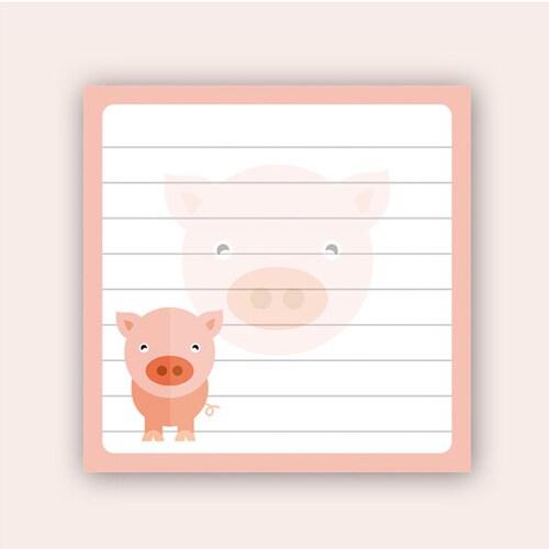 은성 001 돼지 캐릭터 떡메모지_이미지