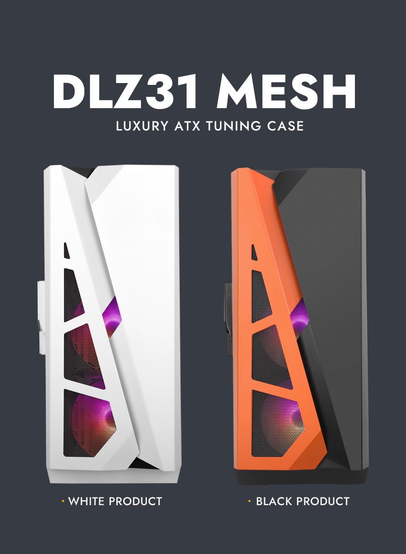 darkFlash DLZ31 RGB MESH 강화유리 (화이트)