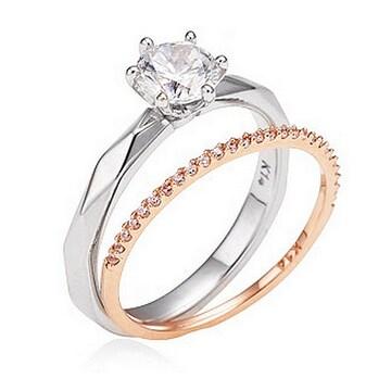[여] 몰리즈 18K 오에리 5부 다이아몬드 투링