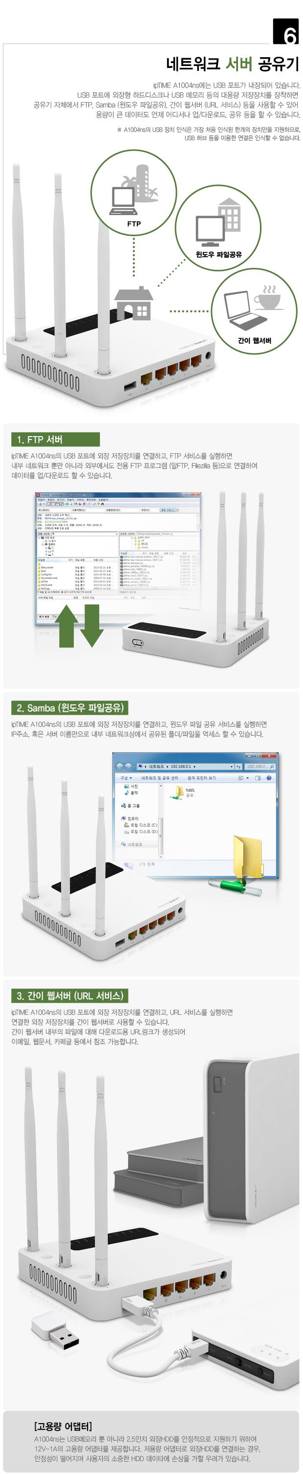 EFM ipTIME A1004ns 유무선공유기