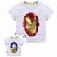 미리미터 아이언맨 캡틴아메리카 반전 리버시블 스팽글 티셔츠 (해외구매)_이미지