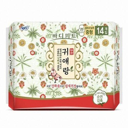 LG유니참 쏘피 바디피트 귀애랑 울트라 날개 중형 14개 (1팩(14개))_이미지