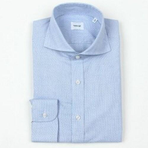 지엠아이 밴브루 멜란도비 체크 와이드 셔츠 BGFSL1151BU_이미지