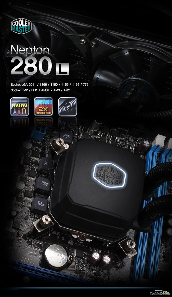 쿨러마스터 Nepton 280 L 제품 메인 이미지
