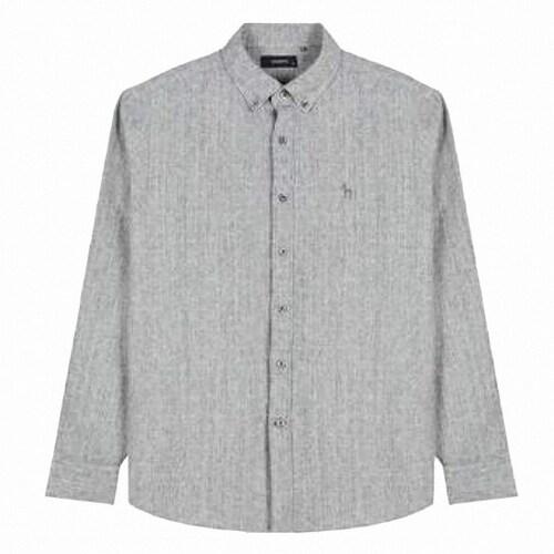 LF 헤지스(HAZZYS) 그레이 체크 면 긴팔 캐주얼 셔츠 HZSH7D361G2_이미지
