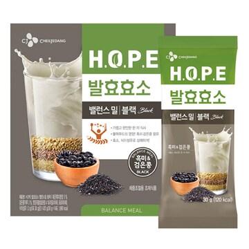CJ제일제당  HOPE 발효효소 밸런스밀 블랙 14포 (1개)
