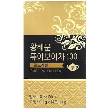 넥스트BT  왕혜문 퓨어보이차 100 골드라벨 14T (1개)