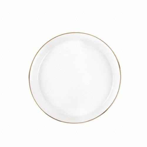 예인산업 윌리브 골드림 화이트 6인치 접시 소_이미지