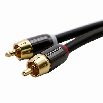 CABLEMATE  2RCA to 2RCA 고급형 케이블(10m, CM-RCA06)