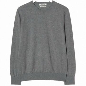 삼성물산 빈폴 라이트 그레이 코튼 베이직 라운드넥 스웨터 BC9151A012