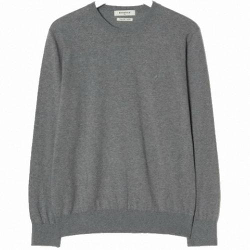 빈폴 라이트 그레이 코튼 베이직 라운드넥 스웨터 BC9151A012_이미지