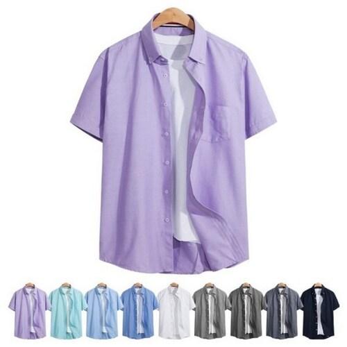 비케이커머스 모니즈 옥스포드 포켓 반팔 셔츠 SHT091_이미지