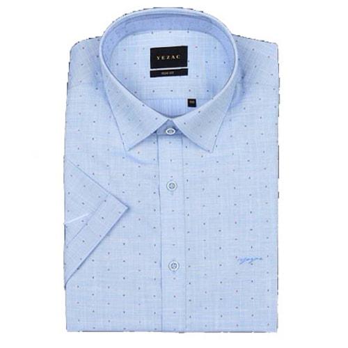 패션그룹형지 예작 투톤 프린트 슬림핏 반소매 셔츠 YJ8MBS984BL_이미지