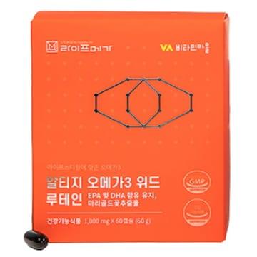 비타민마을 라이프메가 알티지 오메가3 위드 루테인 60캡슐 (6개)_이미지