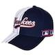 MLB  뉴욕 양키스 하프 스트라이프 커브조절캡 32CPCX841-50N_이미지