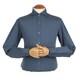 지엠아이 밴브루 실키피치 와이드 블루 슬림 셔츠 BGFSL1119BU_이미지