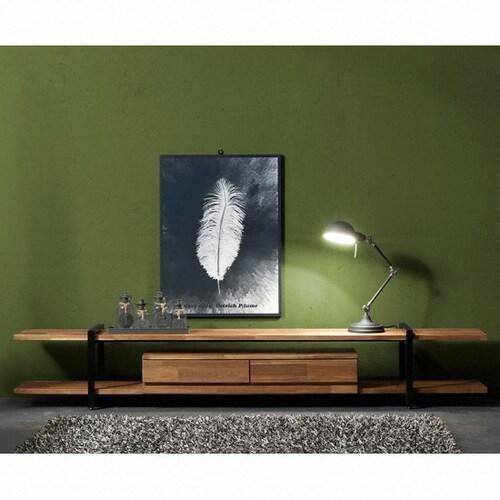 은나무 아이캐슬 헤네시 아카시아 원목 라인 서랍형 거실장_이미지
