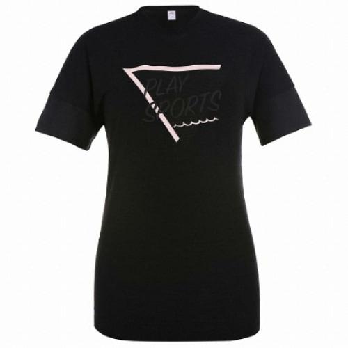 JDX골프  여성 그래픽 원포인트 변형핏 티셔츠 X3QMTSW53BK_이미지