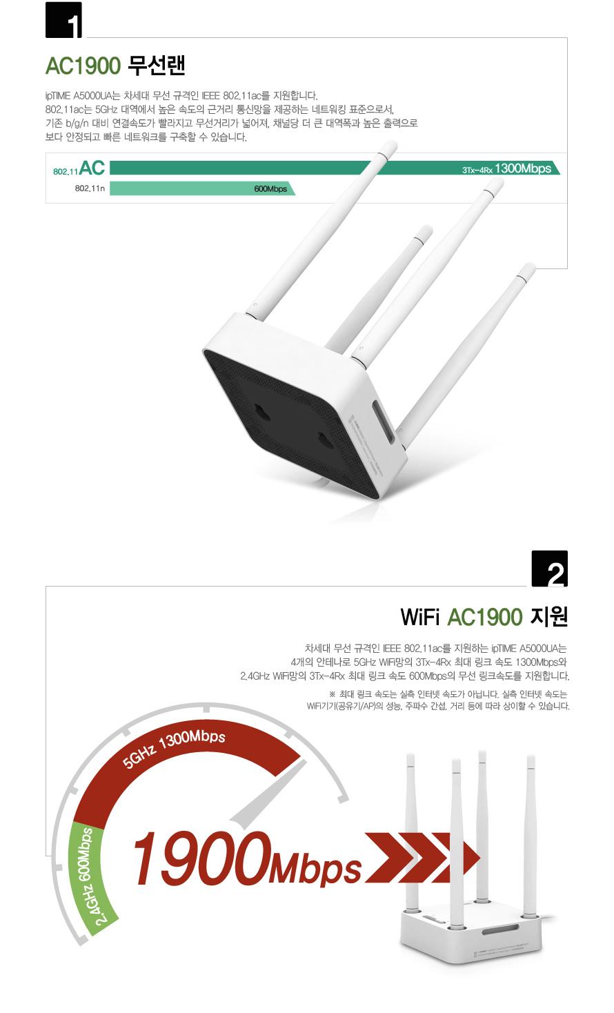 EFM ipTIME A5000UA USB 3.0 무선랜카드