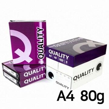 더블에이  퀄리티 복사용지 A4 80g (5팩, 2500매)