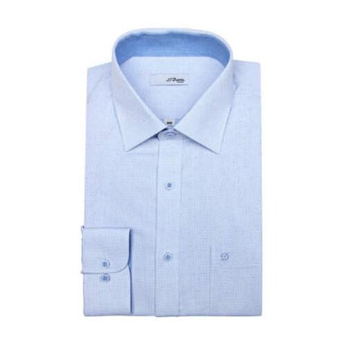 에스티듀퐁  도트 도비 패턴 일반 셔츠 SD8SM12LS708BU_이미지