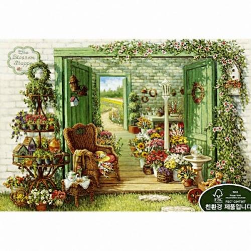 퍼즐라이프  꽃가게로 이어진 들판 (1000P)_이미지