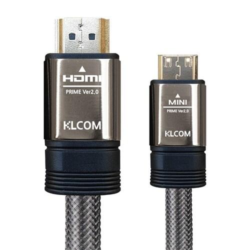 케이엘시스템 KLcom PRIME 고급형 Mini HDMI to HDMI v2.0 케이블 (3m, KL22)_이미지