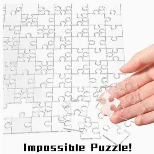 BeYumi 투명 직소 퍼즐 빈 아크릴 퍼즐(200P)
