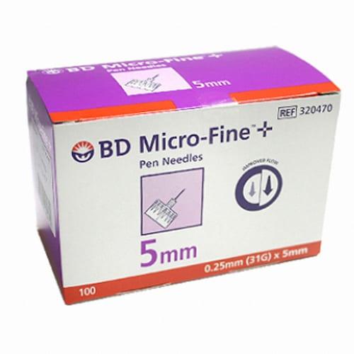 벡톤디킨슨  BD 마이크로 파인 인슐린 펜니들 31G 5mm (1200개)_이미지