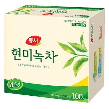 동서식품  동서 현미녹차 업소용 100T (1개)