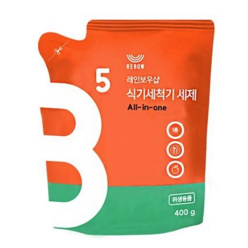 레인보우샵 올인원 식기세척기 세제 400g(1개)