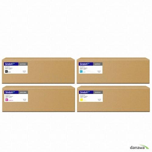신도리코  정품 Q400T8KK + Q400T8KC + Q400T8KM + Q400T8KY 4색 세트 (1개)_이미지