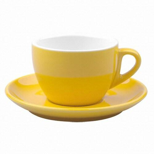노빌타 2호 카푸치노 커피잔 200ml (옐로우)_이미지
